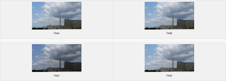 Files A, B, C, D
